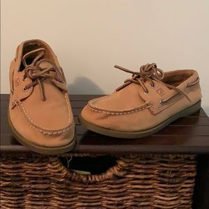 Boys Tan Sperry Top Siders Shoes Size 13M NEW